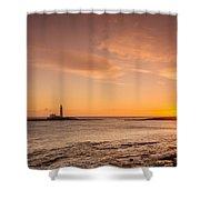 Sunrise At St Mary's Lighthouse Shower Curtain