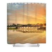 Sunrise At Sunset Lake Shower Curtain