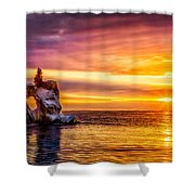 Sunrise At The Arch Shower Curtain