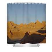 Sunrise At The Badlands, S.dakota, Usa Shower Curtain