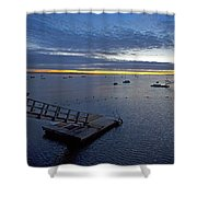Sunrise At The Barnstable Yacht Club Shower Curtain