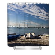 Sunrise At The Bay Shower Curtain