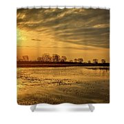 Sunrise At The Big Marsh Shower Curtain