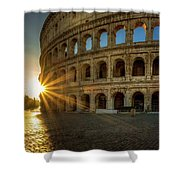 Sunrise At The Colosseum Shower Curtain
