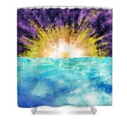 Sunrise At The Edge Of Earth Shower Curtain