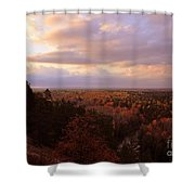Sunrise At The High Rollaways Shower Curtain