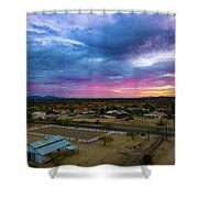 Sunrise At The Horse Barn Shower Curtain