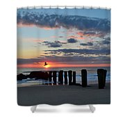 Sunrise At The Jersey Shore Shower Curtain