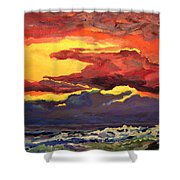 Sunrise At The Jetty 6-23-15 Shower Curtain