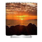 Sunrise At The Jetty Shower Curtain