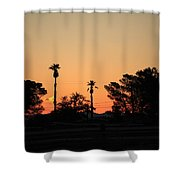 Sunrise At The Oasis Shower Curtain
