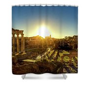 Sunrise At The Ruins Shower Curtain