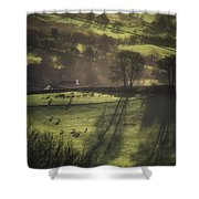 Sunrise At The Sheep Farm Shower Curtain