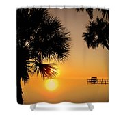 Sunrise At The Space Coast Fl Shower Curtain