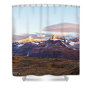 Sunrise At The Swiss Alps Shower Curtain