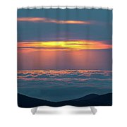 Sunrise At The Top Of The World Shower Curtain