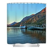 Sunrise At The Two Medicine Dock Shower Curtain