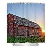 Sunrise Barn Shower Curtain