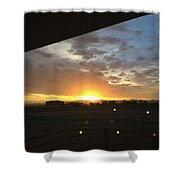 Sunrise Before Class Shower Curtain