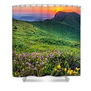 Sunrise Behind Goat Wall Shower Curtain by Evgeni Dinev