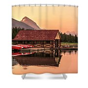Sunrise Boat House Shower Curtain