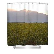 Sunrise Bursting Over The Kamnik Alps And Rapeseed Shower Curtain