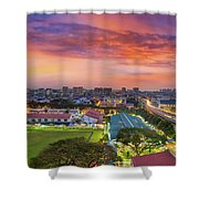 Sunrise By Mrt Station In Eunos Singapore Shower Curtain