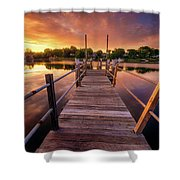 Sunrise By The Ramp Shower Curtain