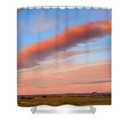 Sunrise Clouds And Barn Shower Curtain