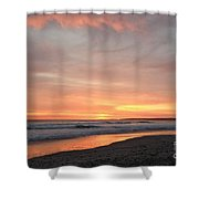 Sunrise Clouds Over The Atlantic November 5 2016 Shower Curtain