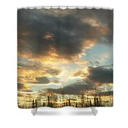 Sunrise Cloudscape Shower Curtain