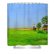 Sunrise - Country Australia Painting Shower Curtain