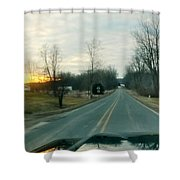 Sunrise Down The Road Shower Curtain