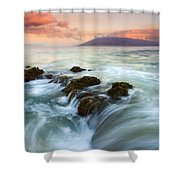 Sunrise Drain Shower Curtain
