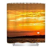 Sunrise Field Goal Shower Curtain