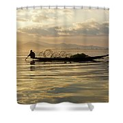 Sunrise Fisherman Shower Curtain