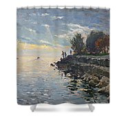 Sunrise Fishing Shower Curtain