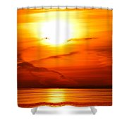 Sunrise Flying Two Shower Curtain