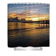 Sunrise Fort Clinch Pier Shower Curtain