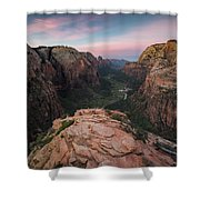 Sunrise From Angels Landing Shower Curtain