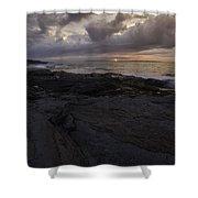 Sunrise From Beavertail In Jamestown Rhode Island Shower Curtain