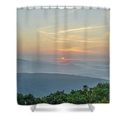 Sunrise From Indian Run Overlook - Shenandoah Mountains Shower Curtain