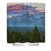 Sunrise From Signal Mountain Shower Curtain