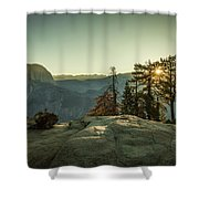 Sunrise Glacier Point Shower Curtain