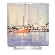 Sunrise Harbor Shower Curtain