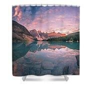 Sunrise Hour At Banff Shower Curtain
