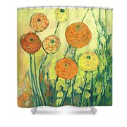 Sunrise In Bloom Shower Curtain by Jennifer Lommers