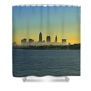 Sunrise In Cleveland Ohio Shower Curtain