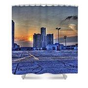 Sunrise In Detroit Mi Shower Curtain by Nicholas  Grunas