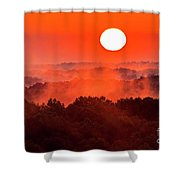 Sunrise In Hocking State Forest Shower Curtain